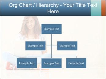 Schoolgirl Surfing Online PowerPoint Template - Slide 66