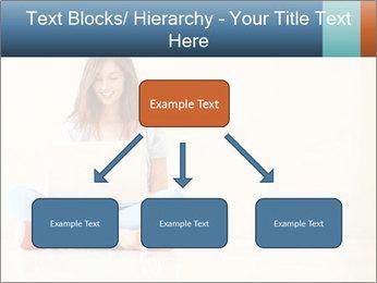 Schoolgirl Surfing Online PowerPoint Template - Slide 69