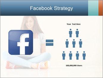 Schoolgirl Surfing Online PowerPoint Template - Slide 7
