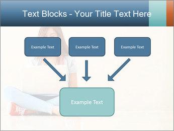 Schoolgirl Surfing Online PowerPoint Template - Slide 70