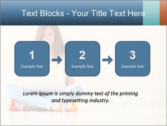 Schoolgirl Surfing Online PowerPoint Template - Slide 71