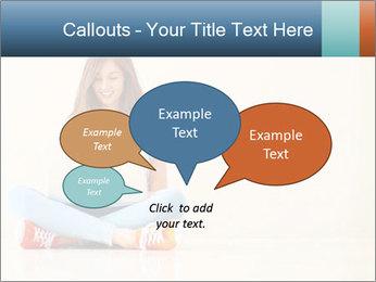 Schoolgirl Surfing Online PowerPoint Templates - Slide 73