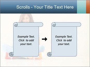 Schoolgirl Surfing Online PowerPoint Template - Slide 74