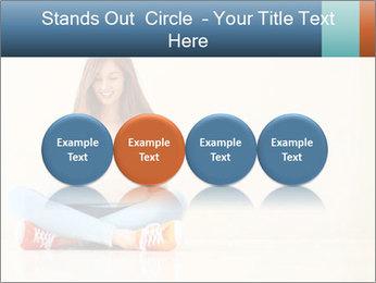 Schoolgirl Surfing Online PowerPoint Template - Slide 76