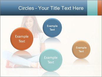 Schoolgirl Surfing Online PowerPoint Template - Slide 77