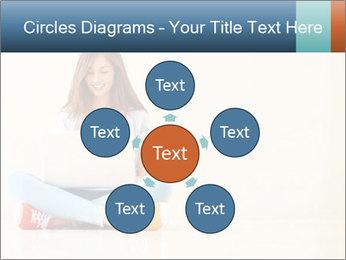 Schoolgirl Surfing Online PowerPoint Template - Slide 78