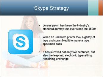 Schoolgirl Surfing Online PowerPoint Template - Slide 8