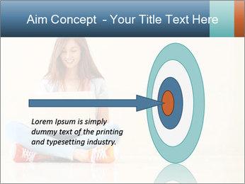 Schoolgirl Surfing Online PowerPoint Template - Slide 83