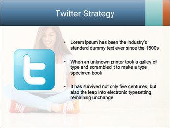 Schoolgirl Surfing Online PowerPoint Template - Slide 9
