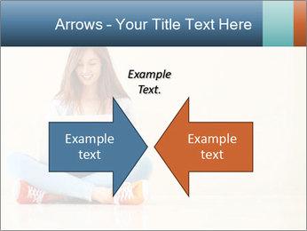 Schoolgirl Surfing Online PowerPoint Template - Slide 90