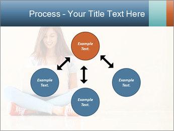 Schoolgirl Surfing Online PowerPoint Template - Slide 91