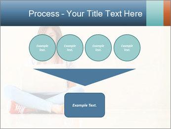 Schoolgirl Surfing Online PowerPoint Template - Slide 93