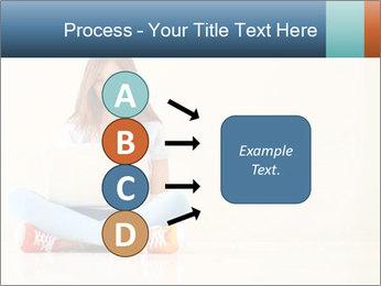 Schoolgirl Surfing Online PowerPoint Template - Slide 94