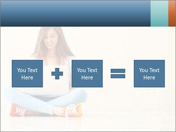 Schoolgirl Surfing Online PowerPoint Template - Slide 95