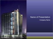 3D Business Center PowerPoint Templates