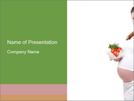 Healthy Diet During Pregnancy PowerPoint Template
