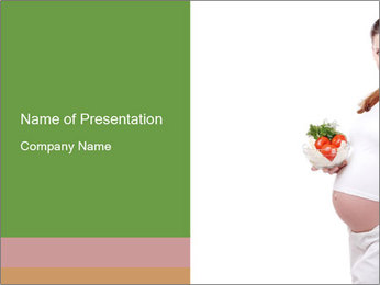 Healthy Diet During Pregnancy PowerPoint Template - Slide 1