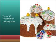 Ukrainian Easter Kulich PowerPoint Templates