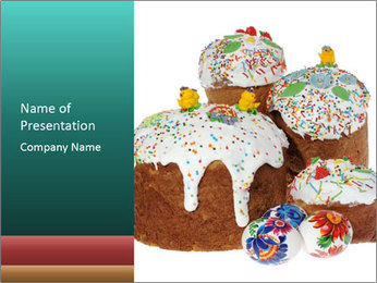 Ukrainian Easter Kulich PowerPoint Template - Slide 1