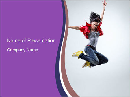 Cute Dancer PowerPoint Template