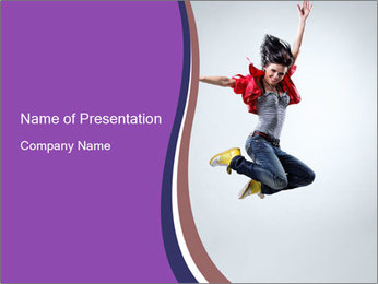 Cute Dancer PowerPoint Template - Slide 1