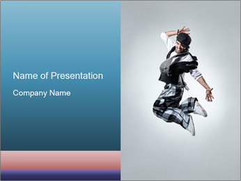 Modern Dance Training PowerPoint Templates - Slide 1