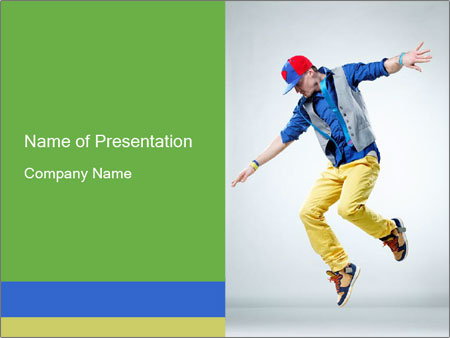 Self-Taught Dancer PowerPoint Templates