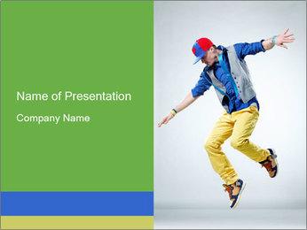 Self-Taught Dancer PowerPoint Template - Slide 1