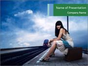 Adventours Woman PowerPoint Templates