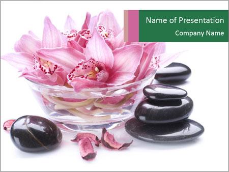 Lotus in Glass Jar PowerPoint Template