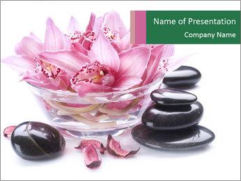 Lotus in Glass Jar PowerPoint Template - Slide 1