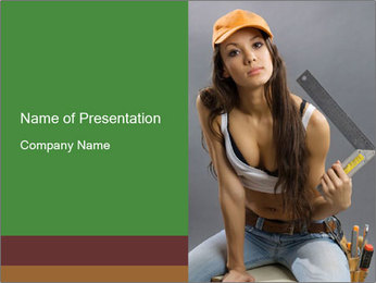 Woman Worker PowerPoint Template - Slide 1
