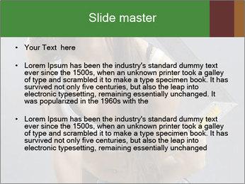 Woman Worker PowerPoint Template - Slide 2