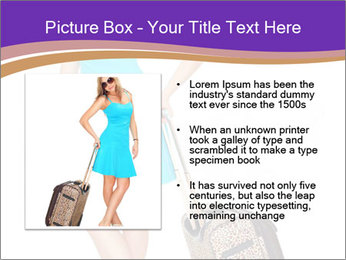 Woman with Travel Bag PowerPoint Templates - Slide 13