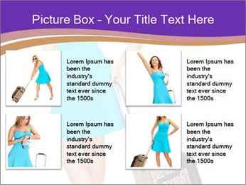 Woman with Travel Bag PowerPoint Templates - Slide 14
