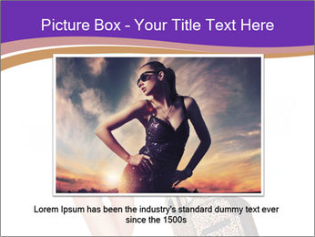 Woman with Travel Bag PowerPoint Templates - Slide 16