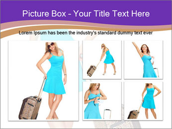 Woman with Travel Bag PowerPoint Templates - Slide 19