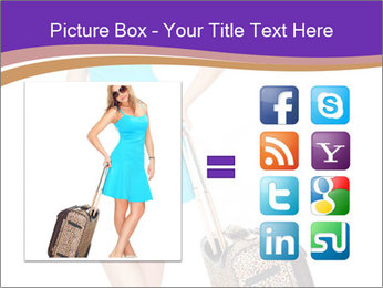 Woman with Travel Bag PowerPoint Templates - Slide 21