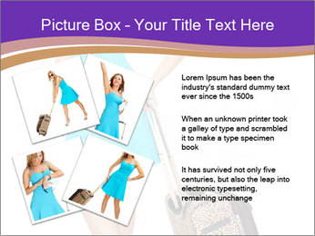 Woman with Travel Bag PowerPoint Templates - Slide 23