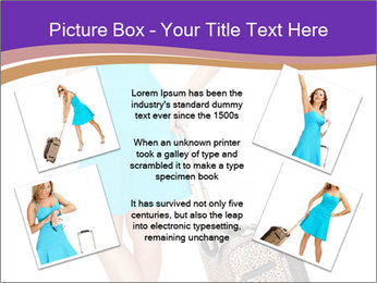 Woman with Travel Bag PowerPoint Templates - Slide 24