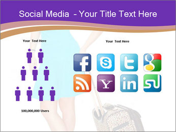Woman with Travel Bag PowerPoint Template - Slide 5