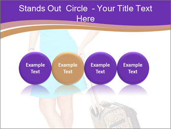 Woman with Travel Bag PowerPoint Templates - Slide 76