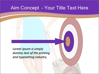 Woman with Travel Bag PowerPoint Template - Slide 83