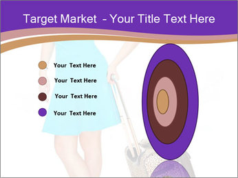 Woman with Travel Bag PowerPoint Template - Slide 84