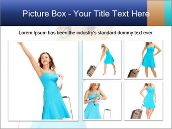 Travel Woman in Blue Dress PowerPoint Templates - Slide 19