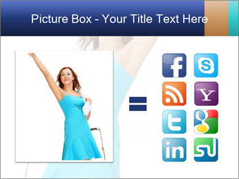 Travel Woman in Blue Dress PowerPoint Templates - Slide 21