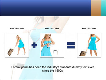 Travel Woman in Blue Dress PowerPoint Templates - Slide 22