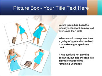 Travel Woman in Blue Dress PowerPoint Templates - Slide 23