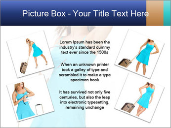 Travel Woman in Blue Dress PowerPoint Templates - Slide 24
