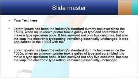Travel Woman in Blue Dress PowerPoint Template - Slide 2